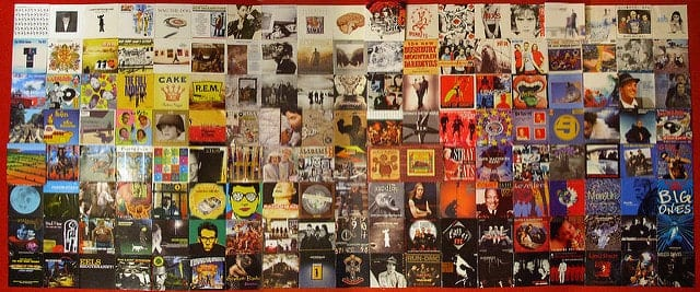 A composite image showing a number of CD album covers