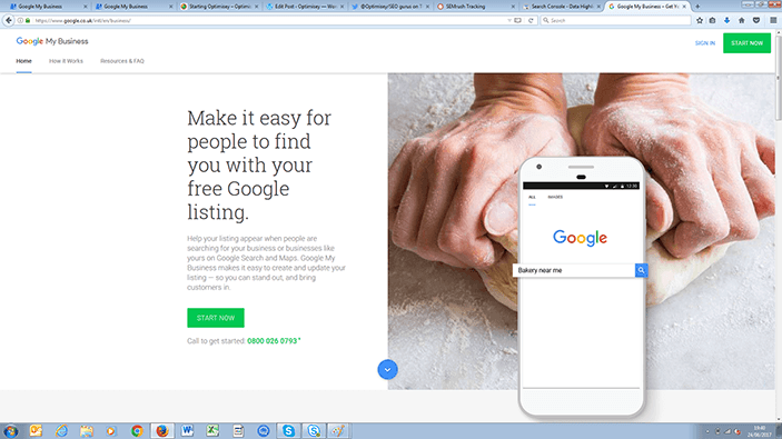 Screenshot from sign-in page of Google My Business
