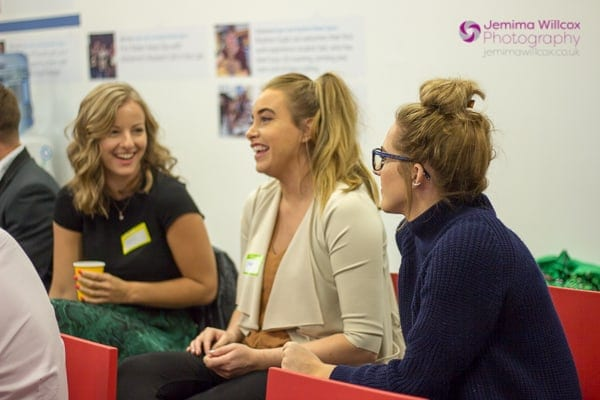A photo of Hayley, Emma and Alana from Brand Recruitment at the Optimisey SEO event