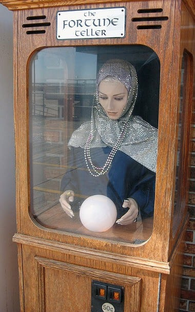 A photo of a fairground fortune teller machine | Photo by Beck Gusler via Flickr