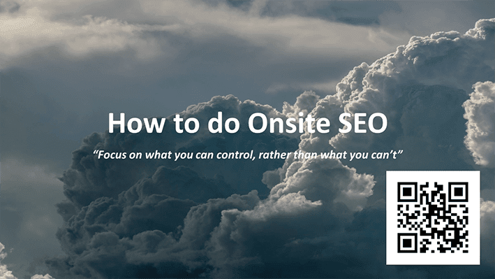 Opening slide from Andrew Rayner's SEO talk at Optimisey in October 2017