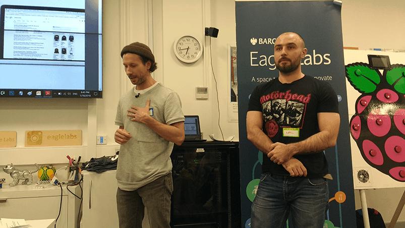 Nick Duffield and Kamil Kuczynski speaking at Optimisey