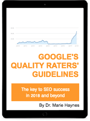 Marie Haynes' Google Quality Raters' Guidelines book