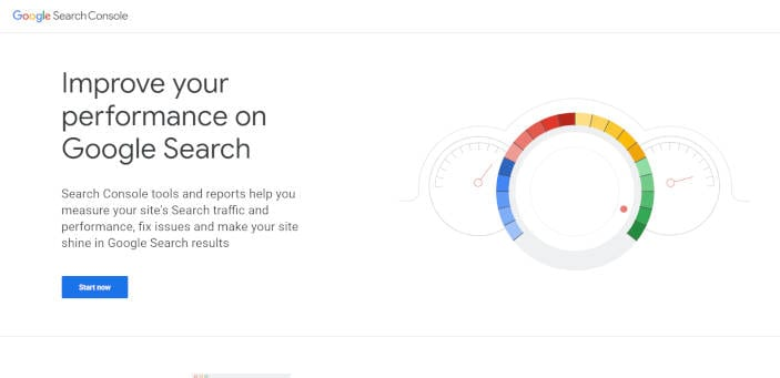 A screenshot from the set-up process for Google Search Console