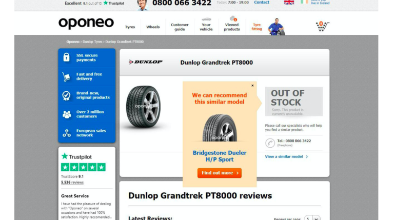 A good 'out of stock' page – a slide from Luke Carthy's talk on ecommerce